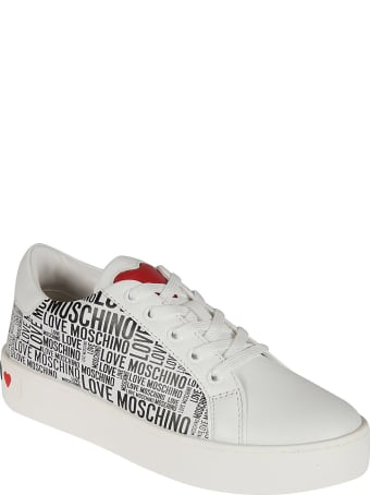 Love Moschino Logo Printed Sneakers