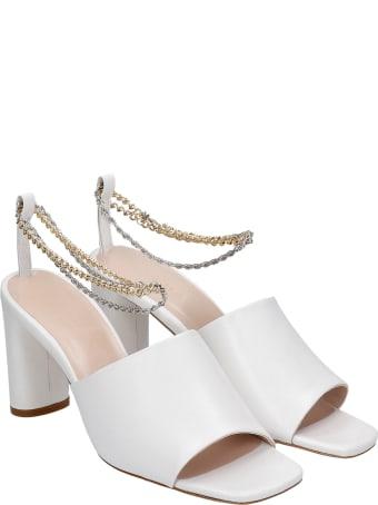 Kalda Inez Sandals In White Leather