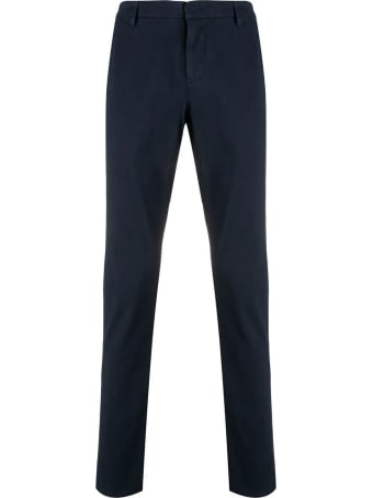 Dondup Blue Stretch-cotton Chino Pants