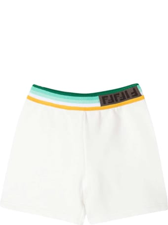 Fendi White Shorts