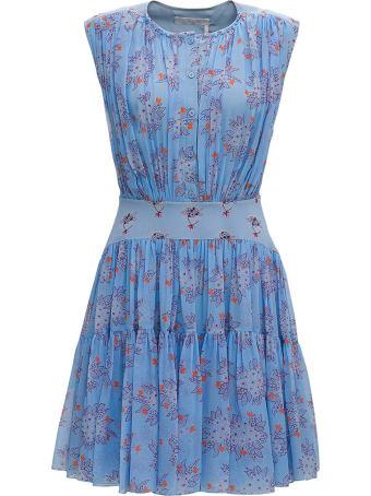 Chloé Floral Silk Midi Dress