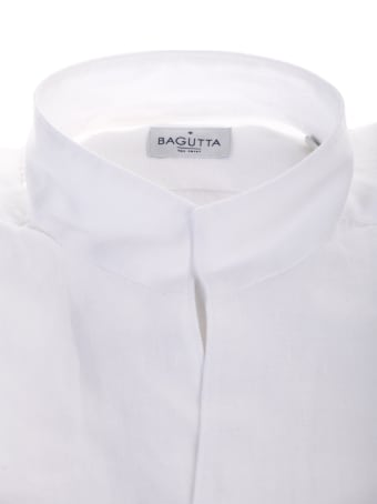 Bagutta white linen shirt