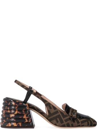 Fendi Promenade Fabric Slingback Pumps