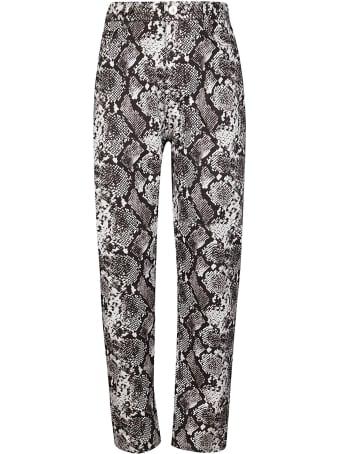 The Attico Grey Cotton Dua Jeans