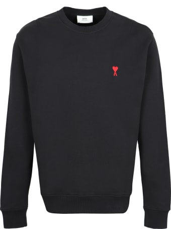 Ami Alexandre Mattiussi Logo Detail Cotton Sweatshirt