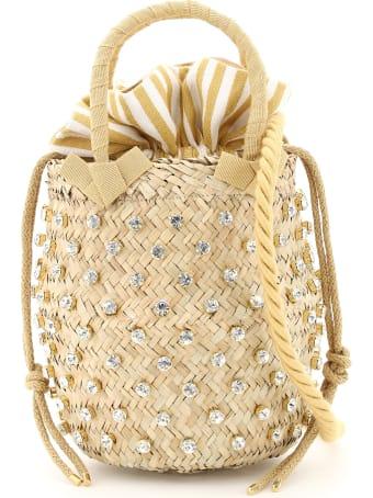 Le Niné Nina Small Basket Bag S2-00033 Crystal Stripe