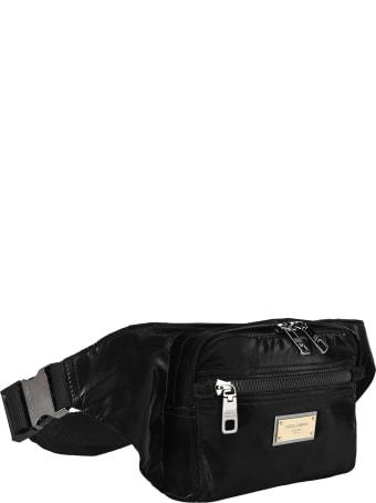 Dolce & Gabbana Dolce&gabbana Nero Sicilia Dna Nylon Belt Bag With Branded Tag