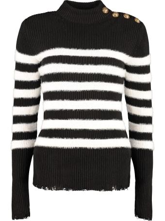 Balmain Striped Turtleneck Sweater