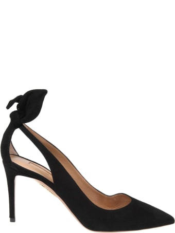 Aquazzura Leather Suede Suede Black