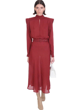 Jacob Lee Dress In Red Silk