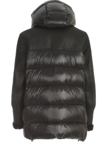 DRM Long Padded Jacket W/fur And Applicated Pockets