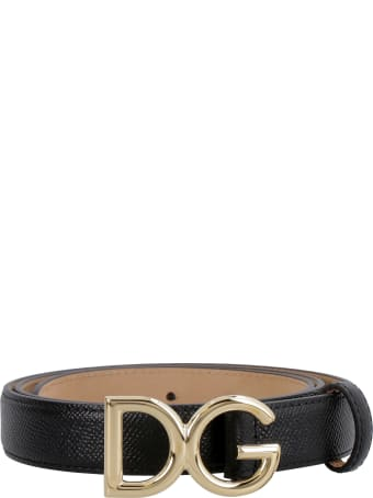 Dolce & Gabbana Dg Buckle Leather Belt