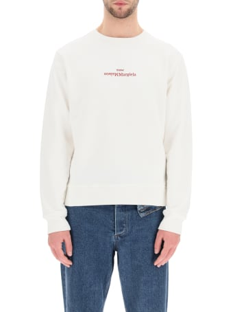 Maison Margiela Sweatshirt With Upside Down Logo Embroidery