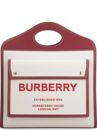 Burberry Pocket Canvas Tote