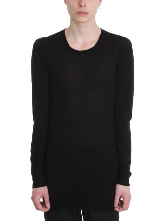 Rick Owens Black Wool Sweater