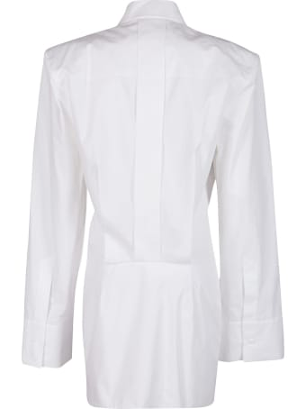 The Attico White Cotton Shirt Dress