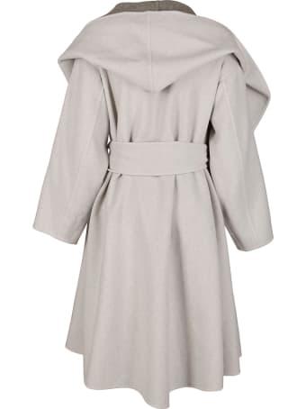 Issey Miyake Grey Wool Blend Coat