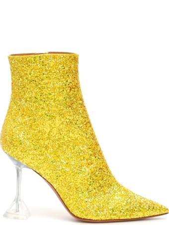 Amina Muaddi Glitter Giorgia Booties