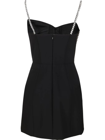 AREA Black Virgin Wool Blend Dress
