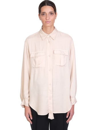Maison Flaneur Shirt In Beige Viscose