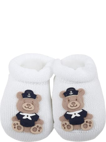 Story loris White Slippers For Baby Boy