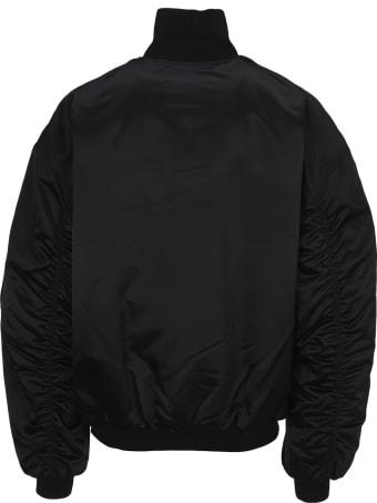 Balenciaga Logo Patch Bomber Jacket