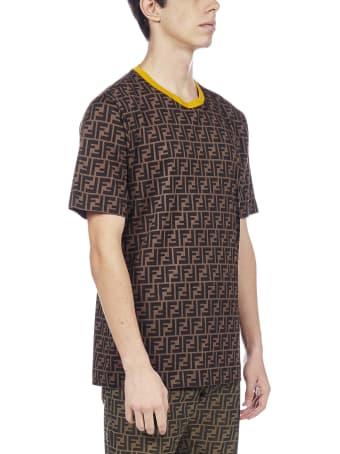 Fendi Ff Motif Cotton T-shirt
