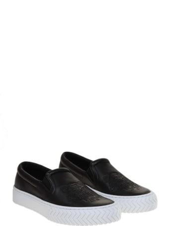 Kenzo Slip On K-skate In Black Leather