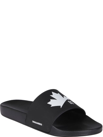 Dsquared2 Black Rubber Slides