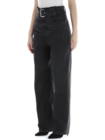 T by Alexander Wang Belted Paperbag Jeans