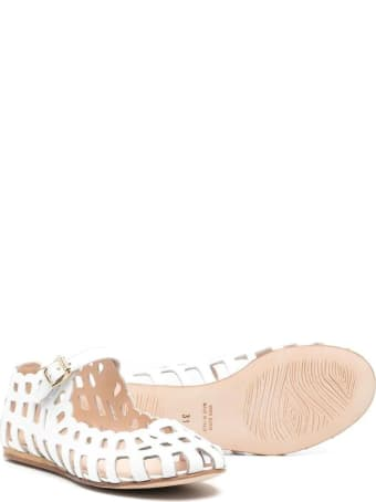 MiMiSol White Perforated Ballerina