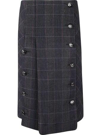 Chloé Pleated Check Skirt