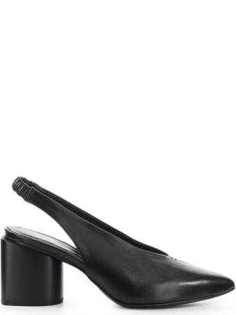 Halmanera Black Nappa Leather Slingback Pump