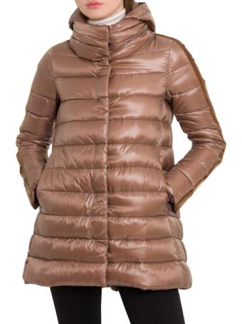 Herno Hoded Padded Coat With Velvet Taping