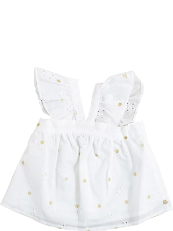 Lili Gaufrette Newborn Shirt With Embroidery