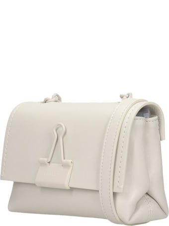 Off-White Shoulder Bag In White Leather