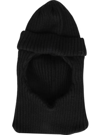 CA4LA Black Wool Blend Balaclava