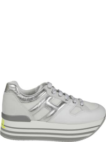 Hogan Metallic Logo Platform Sneakers