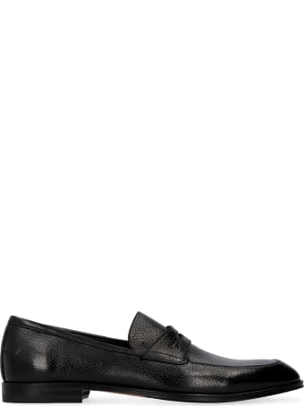 Bally Webb Pebbled Leather Loafers