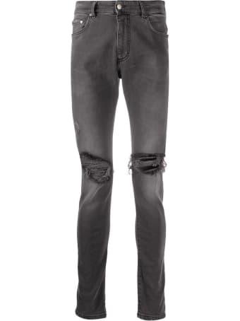 REPRESENT Vintage Grey Cotton Blend Jeans