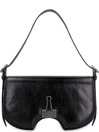 Off-White Swiss Flap Leather Crossbody Bag