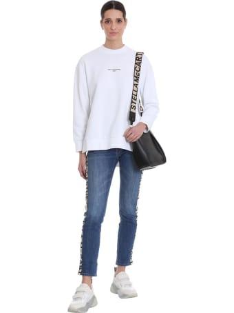 Stella McCartney Sweatshirt In White Cotton