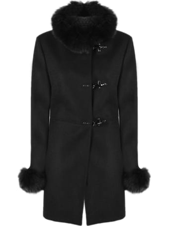 Fay Black Virgin Wool Coat