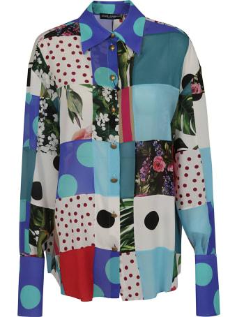 Dolce & Gabbana Multi Print Long-sleeved Shirt