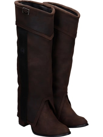 Bruno Bordese Boots In Brown Nubuck