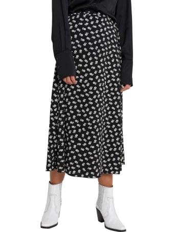 ALEXACHUNG Floral Midi Skirt