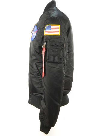 Alpha Industries Black Nasa Bomber Jacket