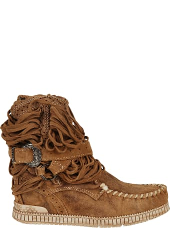 El Vaquero Buckled Ankle Boots