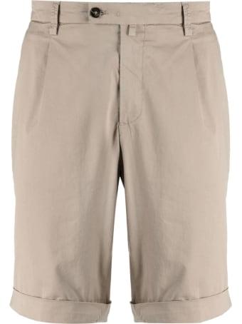 Briglia 1949 Dove Grey Cotton Shorts