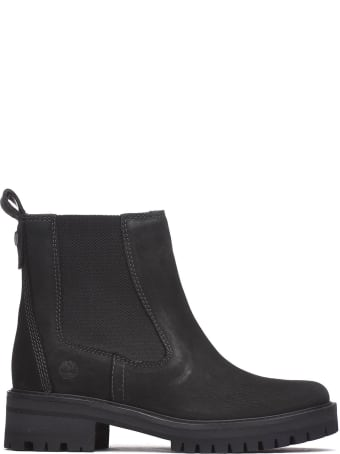 Timberland Ankle Boots In Black Nabuk